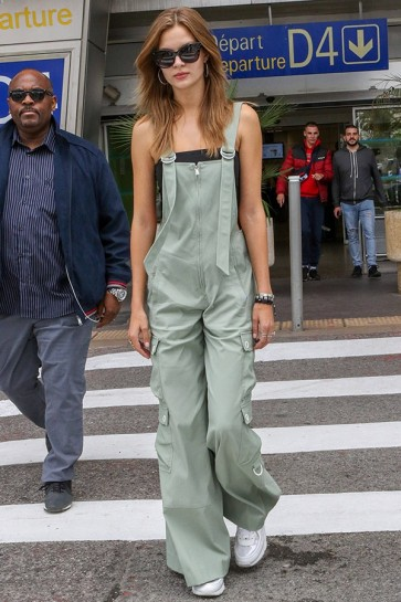 Josephine Skriver Fashion Jumpsuit Nice Airport 2019