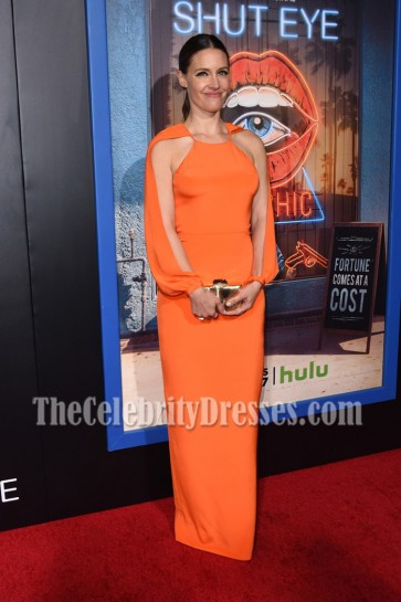 KaDee Strickland Orange Evening Column Dresses HULU premiere of Shut Eye  2
