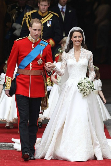 Kate Middleton Luxus Royal Lace Brautkleid Kleid
