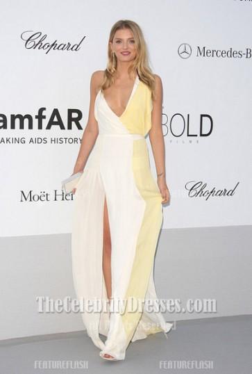 Lily Donaldson Sexy Long Prom Dress Amfar gala 2012 Cannes Celebrity Dresses