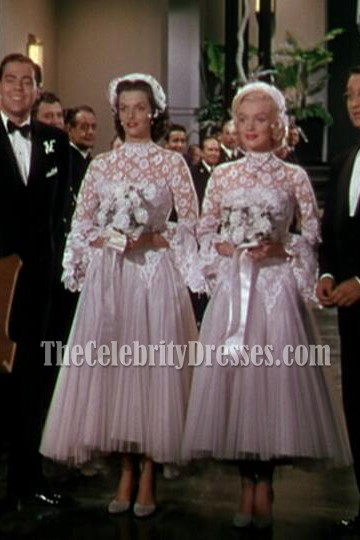 Marilyn Monroe Gentlemen Prefer Blondes White Tulle Wedding Dress