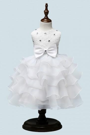 Lace Princess Flower Girl Dress