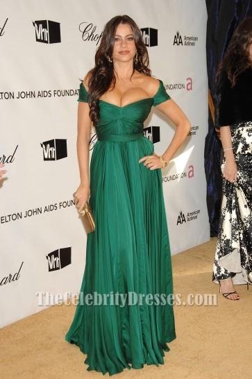 Sofia Vergara Green Evening Dress Oscar Awards 2008 After Party