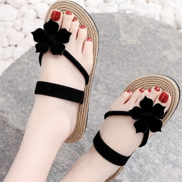 Telly Thong Flip Flops With Flower