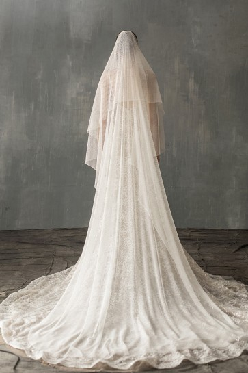 Two-tier Chapel Bridal Veils