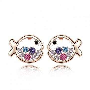 Women's Accessories Austrain Crystal Fish Princess Stud Earrings TCDE0076