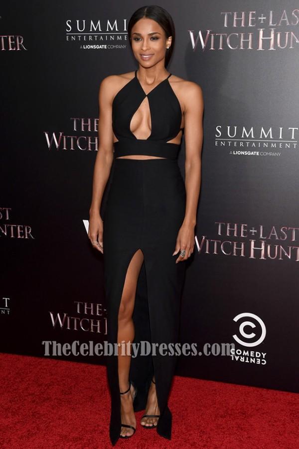Ciara Sexy Schwarzes Abendkleid \'The Last Witch Hunter\' New York ...