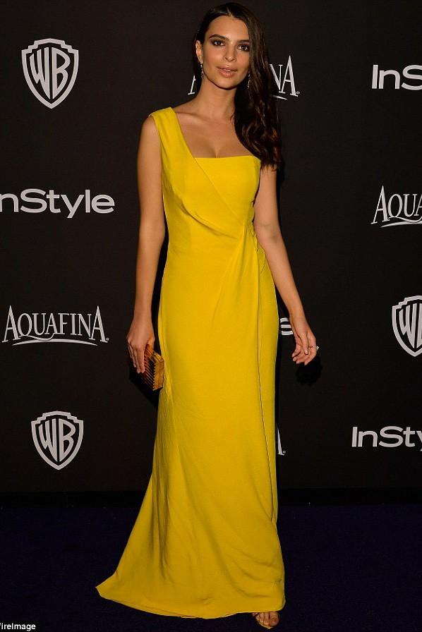 Emily Ratajkowski Gelb Ein Schulter-Abschlussball-Kleid Warner Bros ...