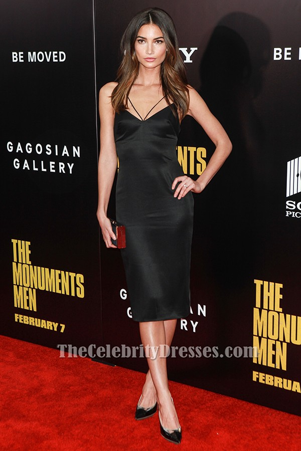 Lily Aldridge Knie-Länge Cocktail-Party-Kleid \'Die Monumente Männer ...