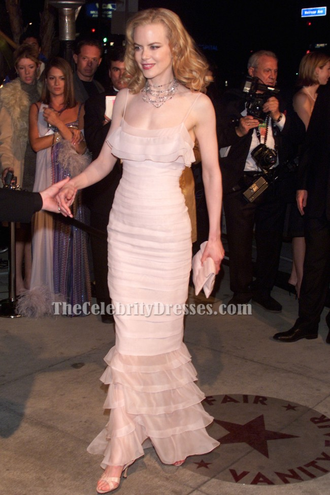 Nicole Kidman Perle Pink Formal Kleid 2002 Oscar rotes Teppichkleid ...