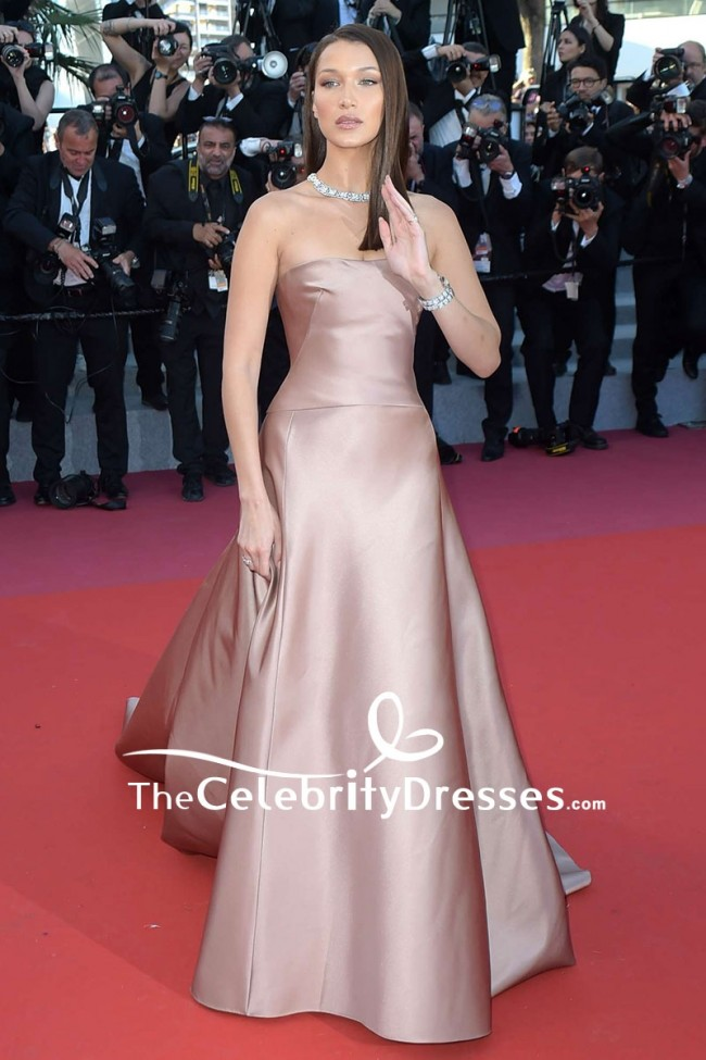 Bella Hadid Strapless Ball Gown 2018 Cannes Film Festival