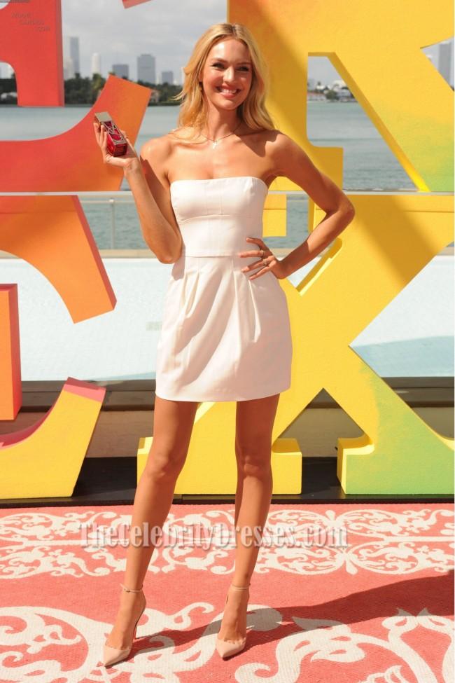 Sehr Victoria's Secret Weiß Kleid Angels Candice Party Swanepoel QhrdxsotCB