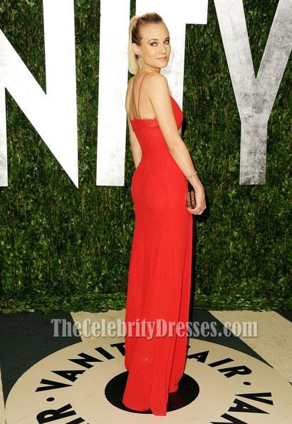 Diane Kruger Rotes Prom Kleid 2012 Vanity Fair Oscar Party ...