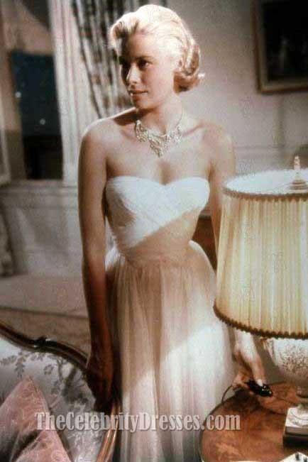 Grace Kelly weißen Prom Kleid einen Dieb fangen Prominente in Filme ...