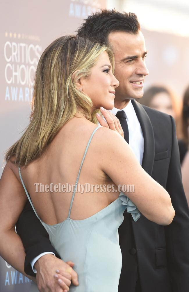 Jennifer Aniston Spaghetti Straps Abendkleid S21st Annual Critics ...