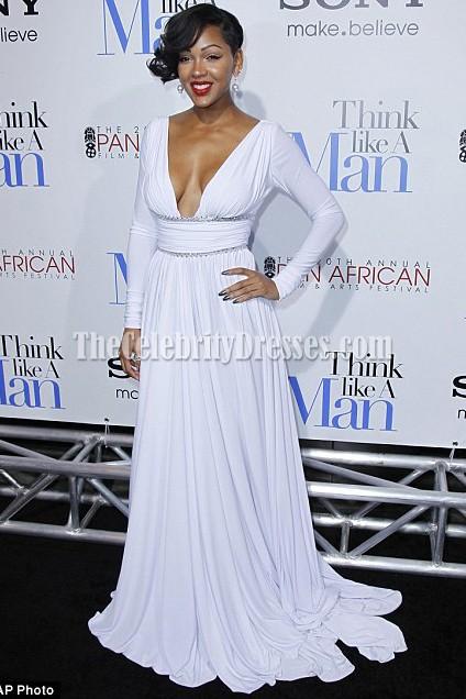 Meaganes gutes reizvolles weißes Abschlussball-Kleid denken wie ein ...