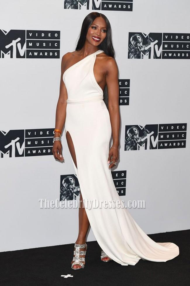 Naomi Campbell weiß ein Schulter Abend prom Kleid 2016 MTV Video ...