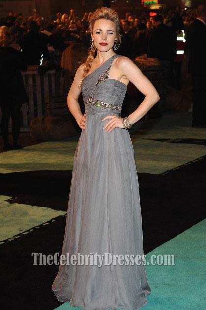 Rachel McAdams Silber Ein Schulterkleid Sherlock Holmes Premiere ...