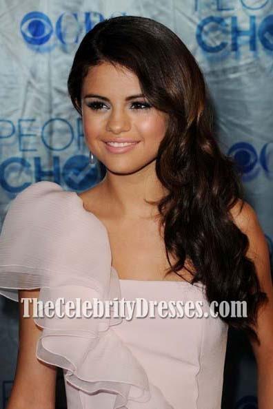 Selena Gomez Pink Kurzes Cocktail Partykleid 2011 People\'s Choice ...