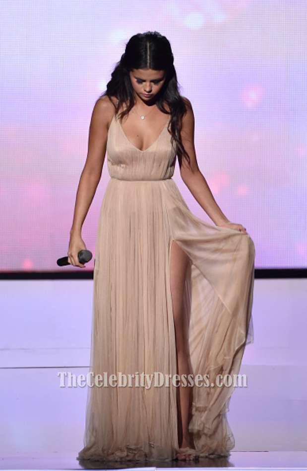 Selena Gomez Champagner Abendkleid 2014 Amerikanische Musikpreise ...