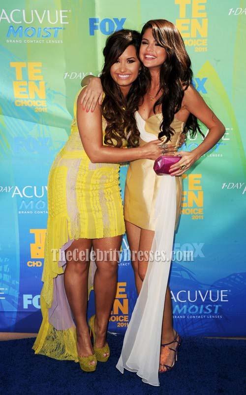 Selena Gomez Kurzes Partykleid 2011 Teen Choice Awards Pals Blauer ...