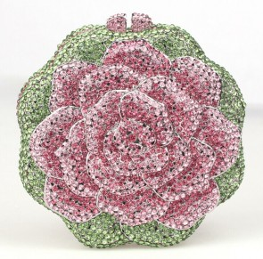 Luxury Fashion Design Rhinestone Evening Bag Flowers Alloy Clutch TCDBG0087