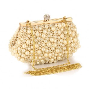 Women's New Handmade Pearl Handbag Ladies Party Evening Purse Bag TCDBG0112