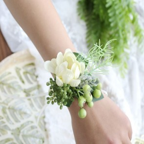 Elegant Wrist Corsage Boutonniere