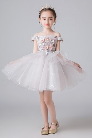 Sleeveless Ball-Gown Flower Girl Dress