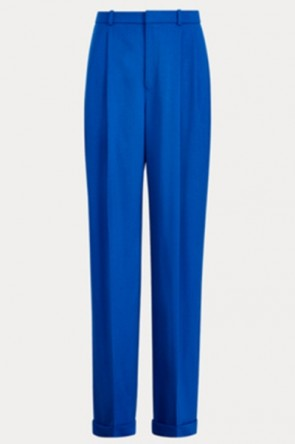 Taylor Hill Blue Shirt And Wide Leg Pants Set