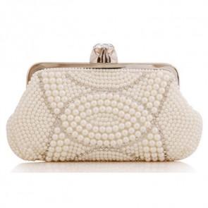 Handmade Pearl Evening Bag Women Fashion Studded Clutch Handbag TCDBG0144