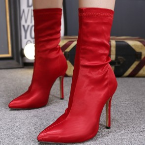 Women's Pointed Toe Shoes Stiletto Heels Boots