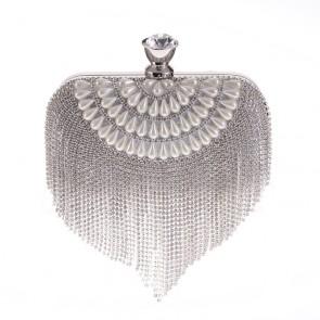 Women's Fashion Tassel and Imitation Pearl Handmade Evening Mini Bag TCDBG0114