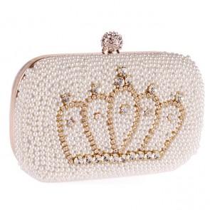 New Fashion Pearl Evening Bag Ladies Diamond Crown Handbags TCDBG0149