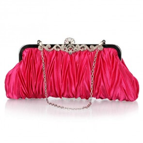 Women's Simple Evening Handbag Ruffle Rhinestone Mini Party Clutch Bag TCDBG0118