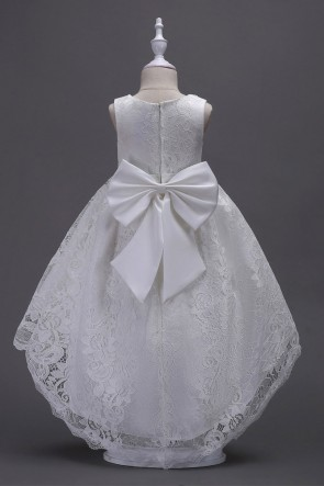 Princess Asymmetrical Flower Girl Dress