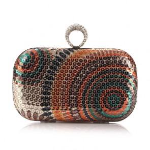 Fashion Ladies Hand Bag Rainbow Color Dinner Bag Purse TCDBG0106