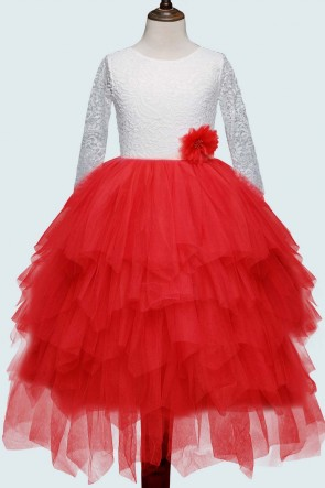 Empire Princess Flower Girl Dress