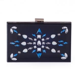 Fashion evening bag diagonal chain acrylic diamond hard shell bag handbag TCDBG0094