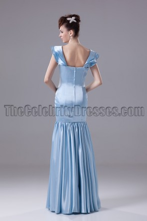 Blue Full Length Prom Gown Evening Formal Dresses
