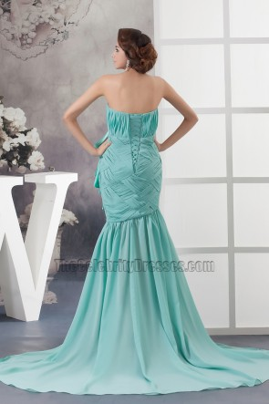 Celebrity Inspired Strapless Mermaid Formal Dress Prom Gown