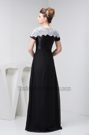 Chic Black Full Length Formal Gown Evening Prom Dresses