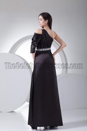 Schwarzes Ärmel Abendkleid Ballkleid