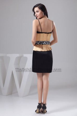 Chic Short Spaghetti Straps Cocktail Party Graduation Dress
