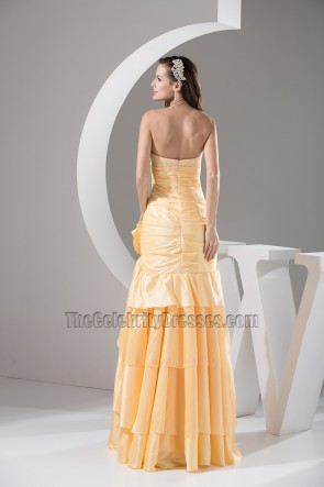 Daffodil Strapless A-Line Full Length Bridesmaid Prom Dresses