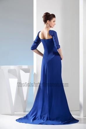 Ballkleid aus dunkelblauem Chiffon-Abendkleid