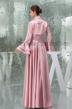Haut rosa Perle trägerlos formale Mutter der Braut Kleid