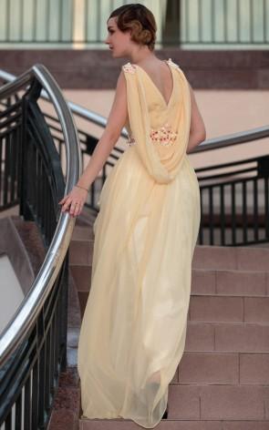 Gorgeous Floor Length Beaded Chiffon Evening Prom Dresses