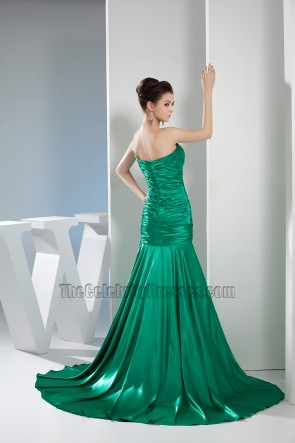 Green One Shoulder Mermaid Formal Dress Prom Evening Gown