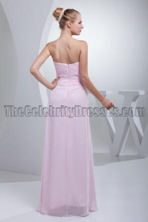 Perlrosa trägerloses Schatzballkleid Brautjungfernkleid
